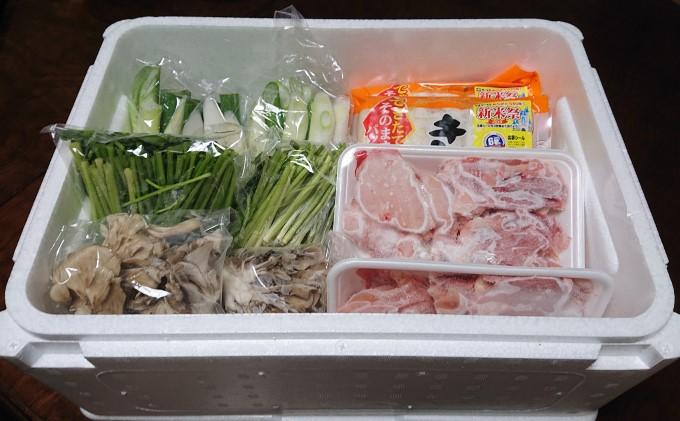 比内地鶏 きりたんぽ鍋 セット 5~6人用(だまこもち付) 【アマノストア】