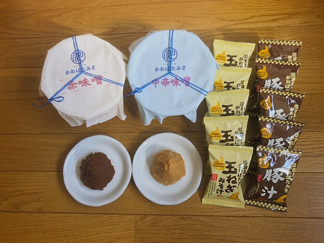 AW24:赤味噌、中辛合わせ味噌、淡路島の玉ねぎみそ汁、豚汁のセット