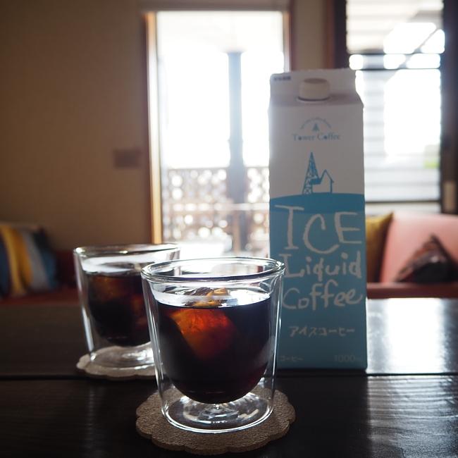 Y038:タワーコーヒー アイスコーヒーリキッド無糖 1ケース12本入り