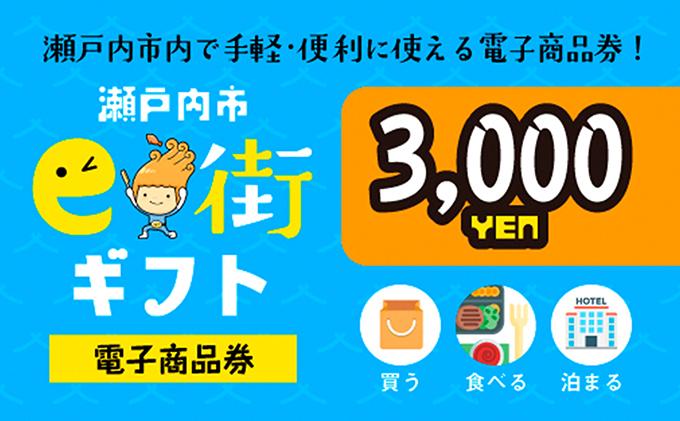 電子商品券 瀬戸内市e街ギフト(3,000円分)