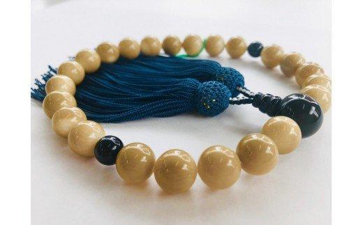 竹サンゴ数珠 ブラックタイガーアイ(虎目石)使用・男性用 TP059