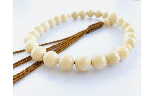 竹サンゴ数珠 房ひも・男性用 TP058