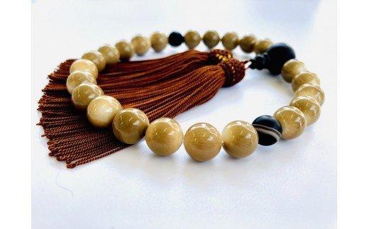 竹サンゴ数珠 マダガスカル瑪瑙(メノウ)使用・男性用 TP031