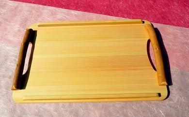 土佐の天然素材シリーズ 四万十ヒノキ小枝手付きトレイ TP006