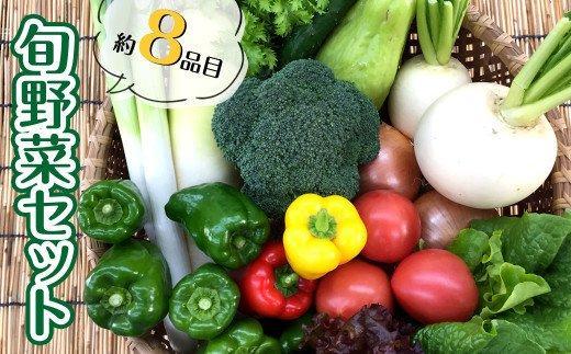 あわ地区 旬な野菜の詰め合わせセット (8品程度)AWA009