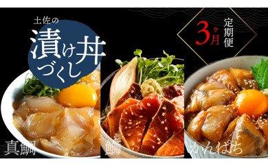 海鮮 土佐の漬け丼づくし3ヶ月定期便<高知市共通返礼品> 惣菜(そうざい)