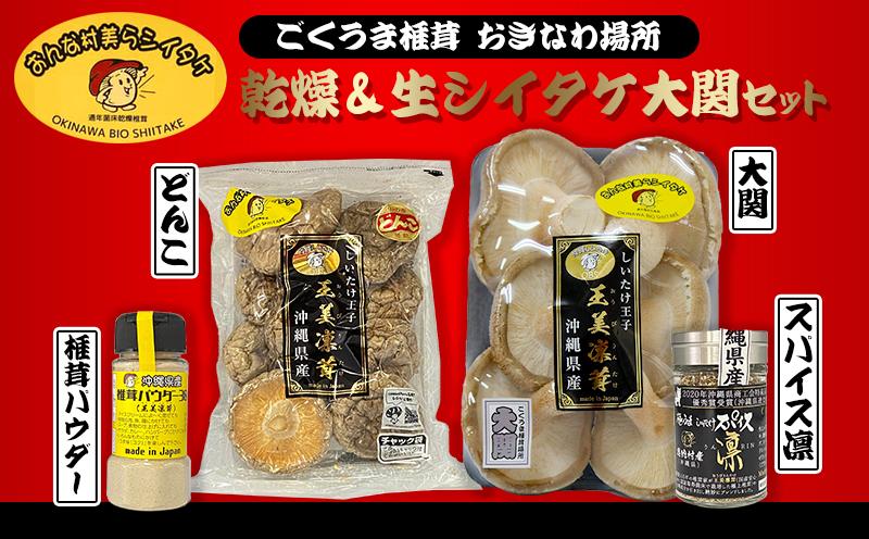 おんな村美らシイタケ ごくうま椎茸 おきなわ場所 「乾燥&生シイタケ大関」セット