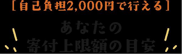 [自己負担2,000円で行える!]あなたの寄付上限額の目安